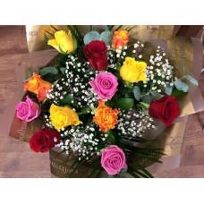 Mixed Roses Hand Tied