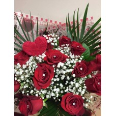 Red Roses Hand Tied