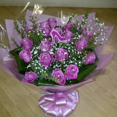 Pink Roses Hand Tied